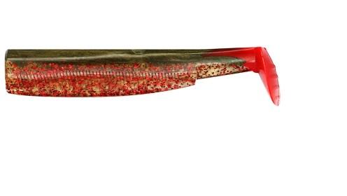 Khaki Red Glitter